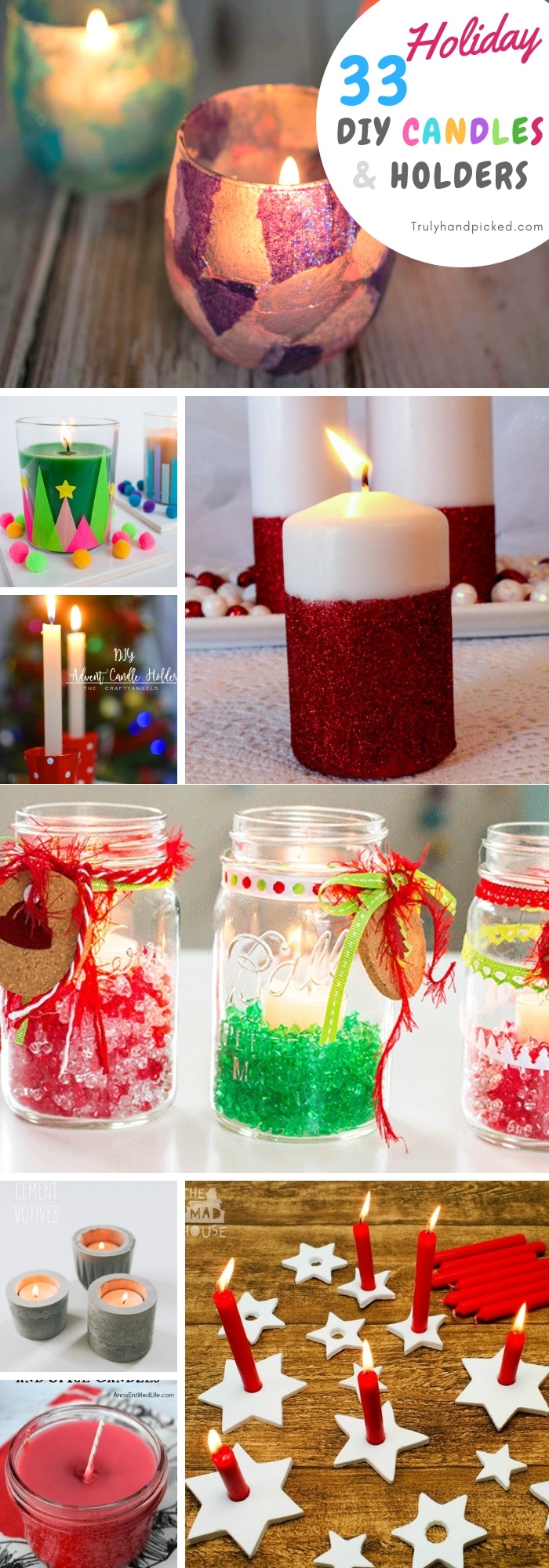 33 Creative Christmas Candle Ideas And Decor Candle Holders