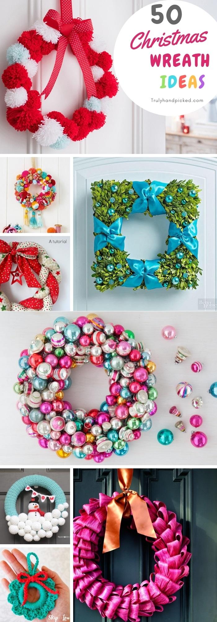 50 Diy Christmas Wreath Ideas Warm Sweet N Inexpensive Wreaths