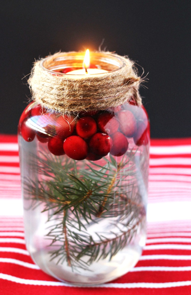 33 Adorable DIY Christmas Candles & Creative Candle Holders