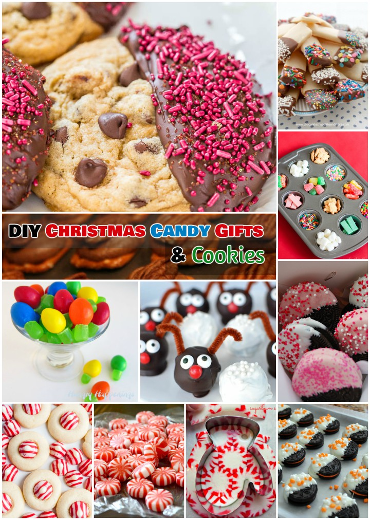 DIY Christmas Candy and Chocolate Dipped Cookies