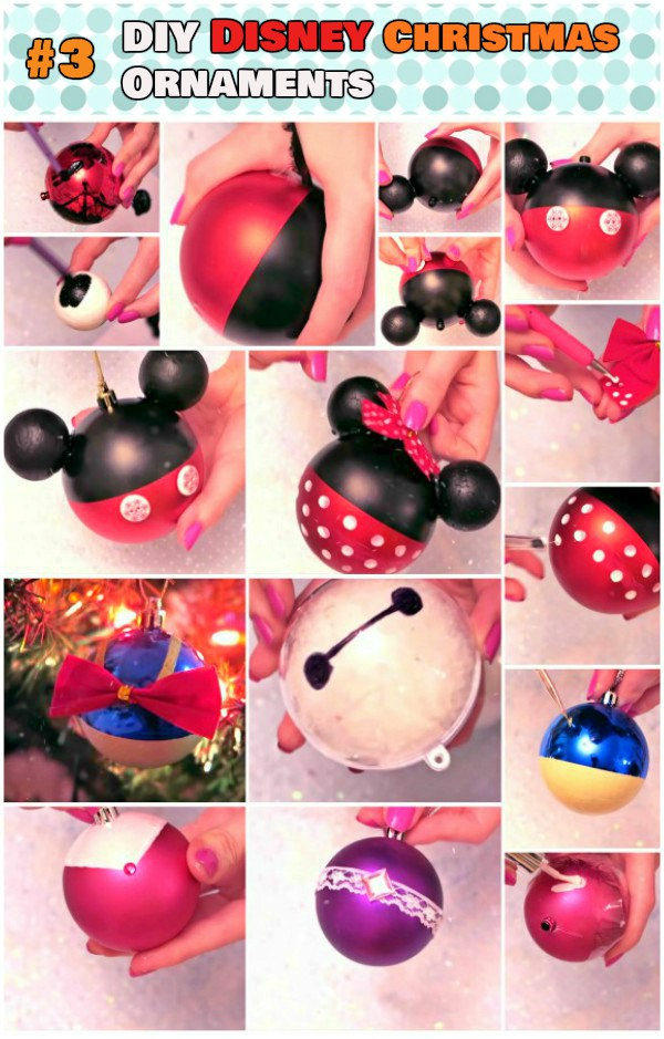 DIY Mickey Mouse Disney Christmas Ornaments