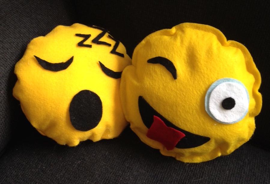 DIY Emoji Pillows No Sew