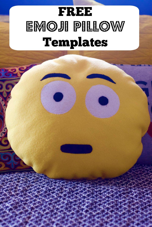 DIY Emoji Pillows Templates