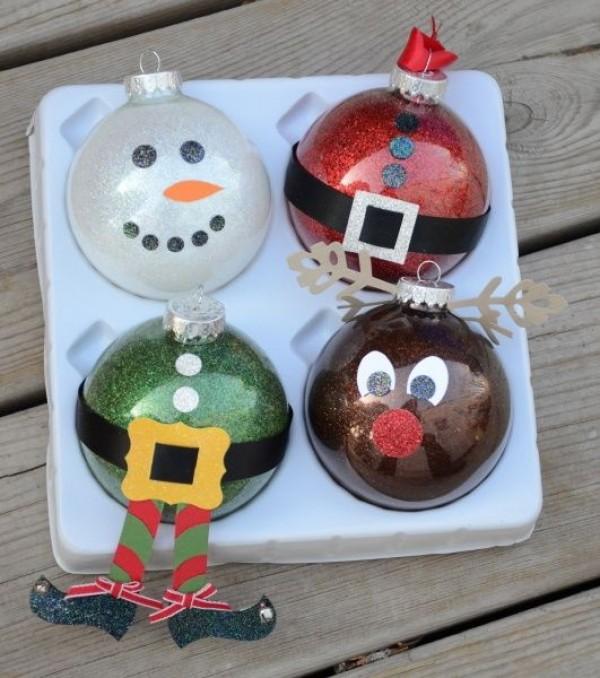 DIY Glass Christmas Ornaments