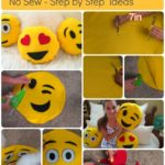 DIY Emoji Pillows #2 No Sew and Sew & Glue Method