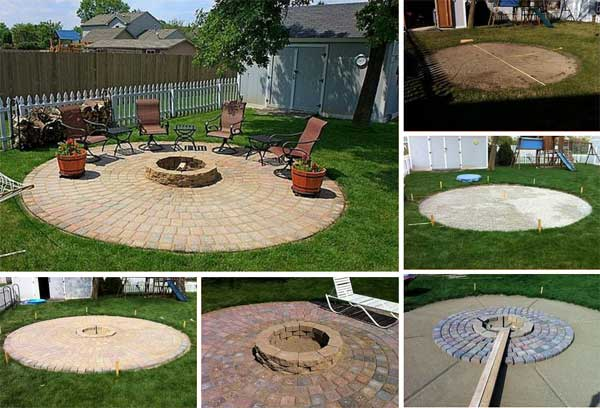 DIY Outdoor Center Fire Pit with patio - DIY Outdoor Center Fire Pit With Patio - Diy Craft Ideas & Gardening