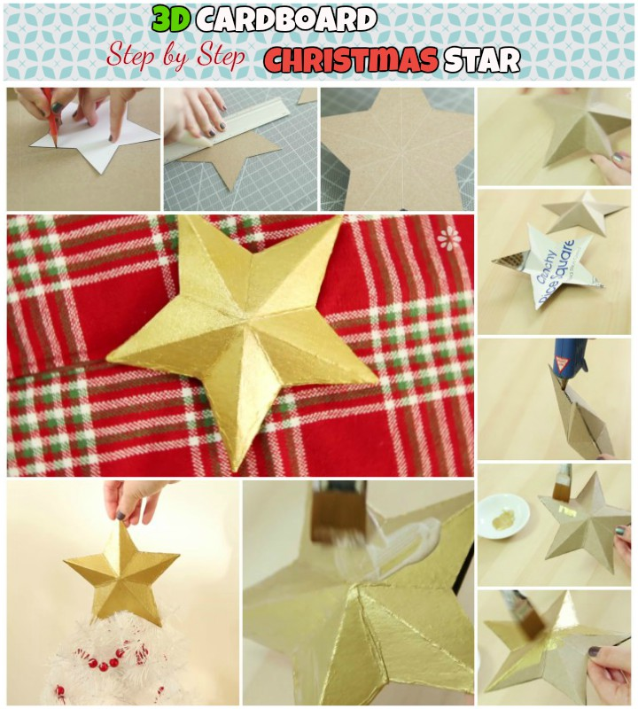 DIY Step by Step Cardboard Christmas Star Ornament