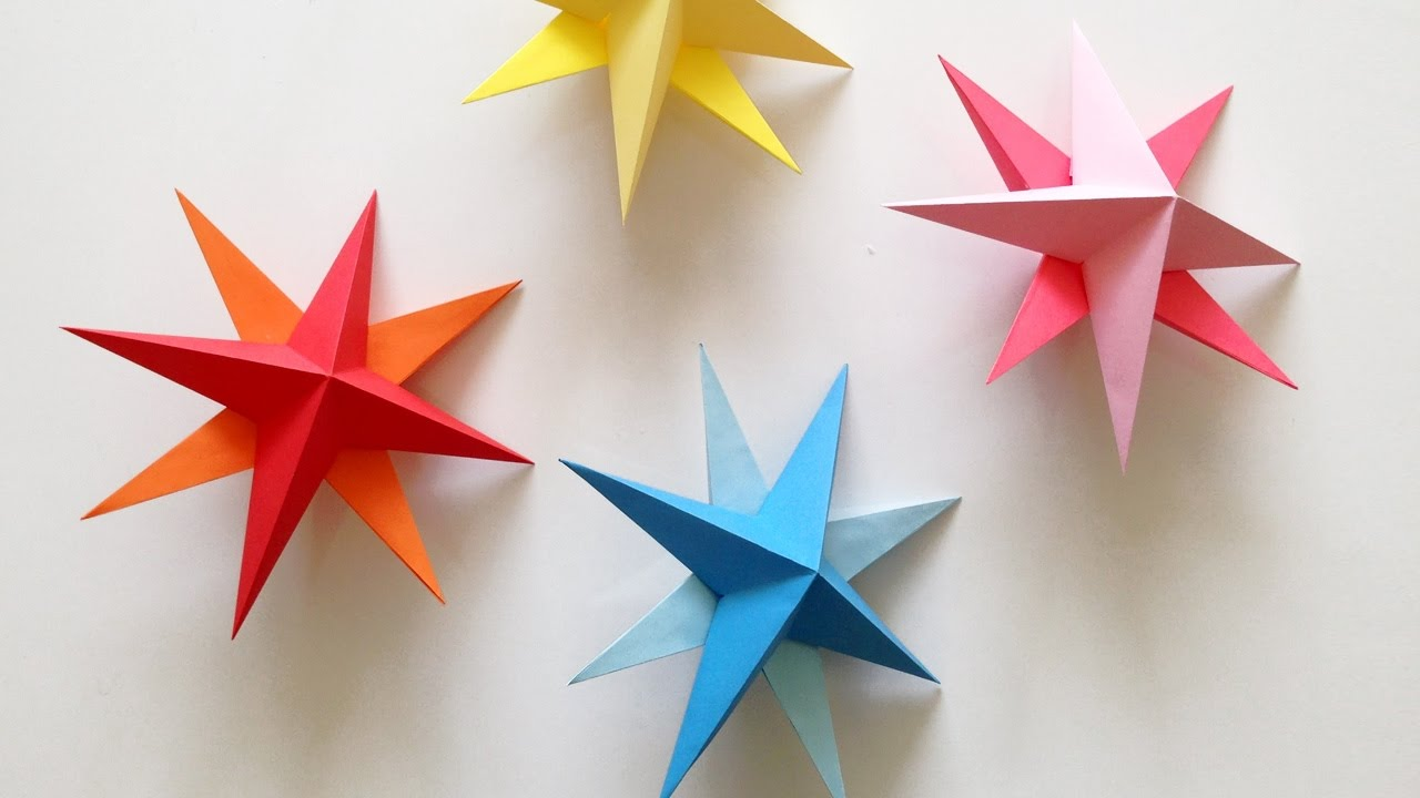 diy paper star tutorial view idea