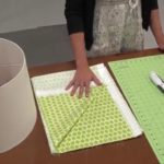 DIY Lampshade: How to Re-cover Lampshade