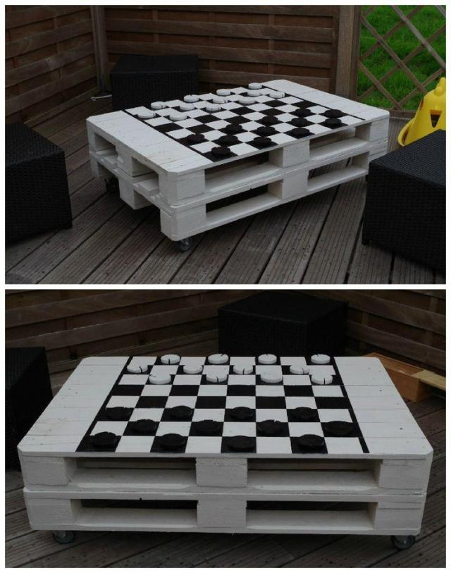 How to make my own pallet coffee table 18 inspiring diy for Painted pallet coffee table