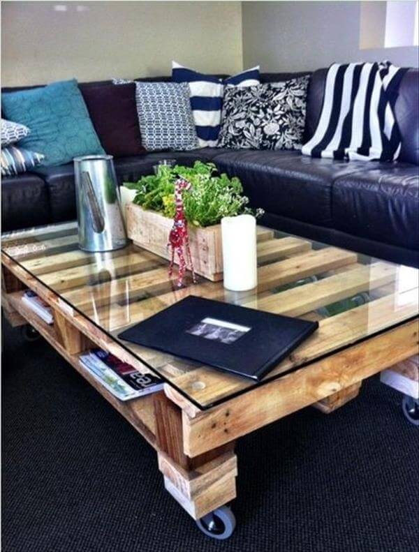 How to Make My Own Pallet Coffee Table 18 Inspiring DIY Coffee Tables