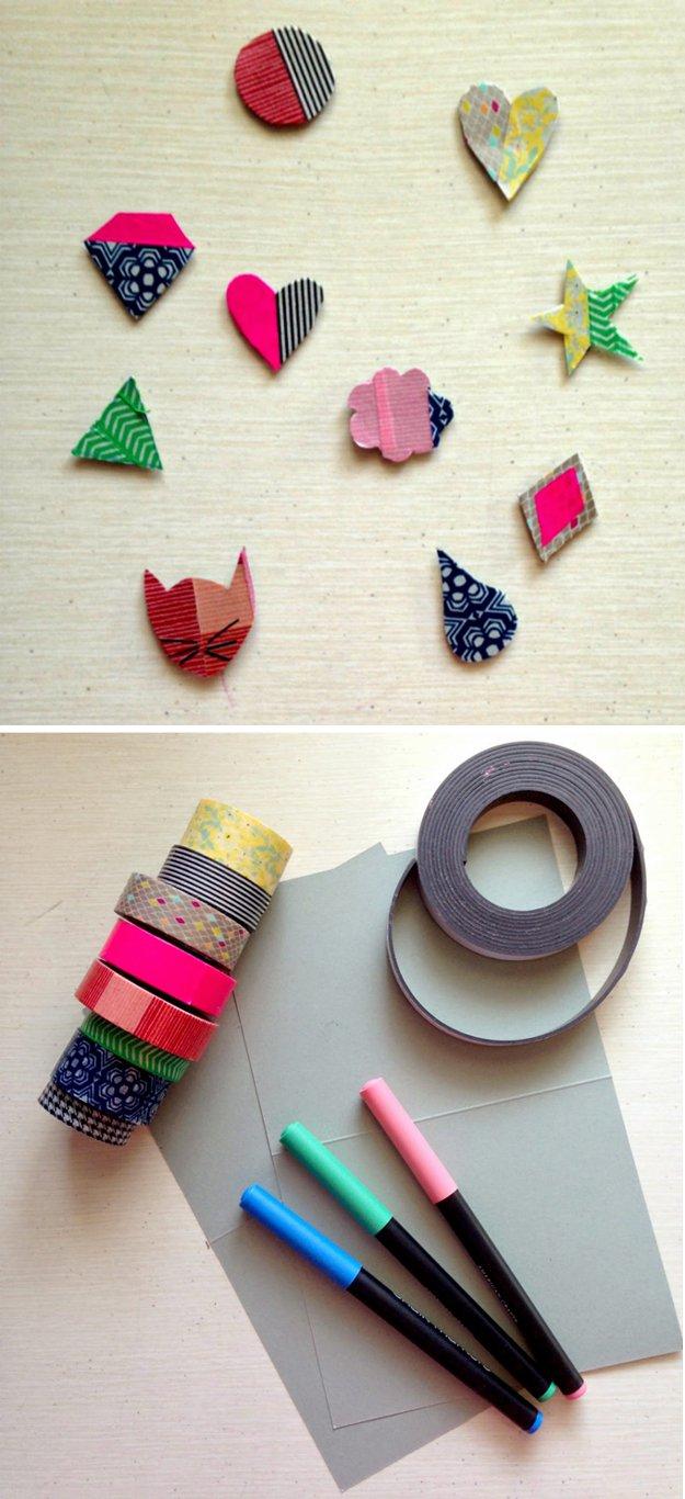 DIY Washi Tape Craft Ideas: #37 Washi Tape Organizer and Arts