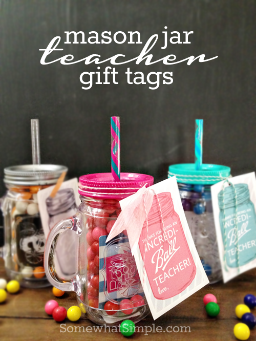 Mason jar teacher gift tags free printable diy craft ideas mason jar teacher gift tags free printable negle