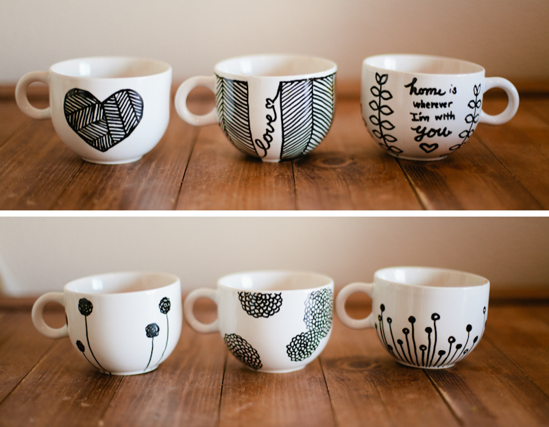Diy sharpie crafts and gifts 14 sharpie mugs and plates solutioingenieria Image collections