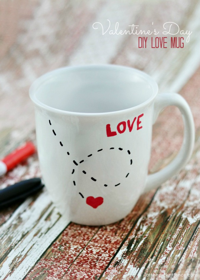diy sharpie love mug for valentines day
