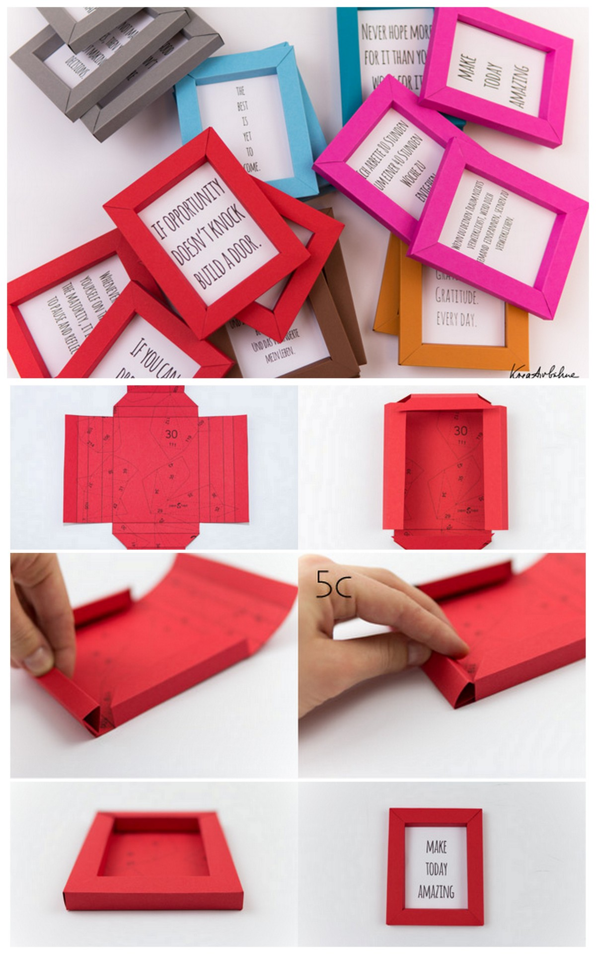 Diy photo frames 26 creative easy picture frames step by step diy photo frames with paper jeuxipadfo Gallery