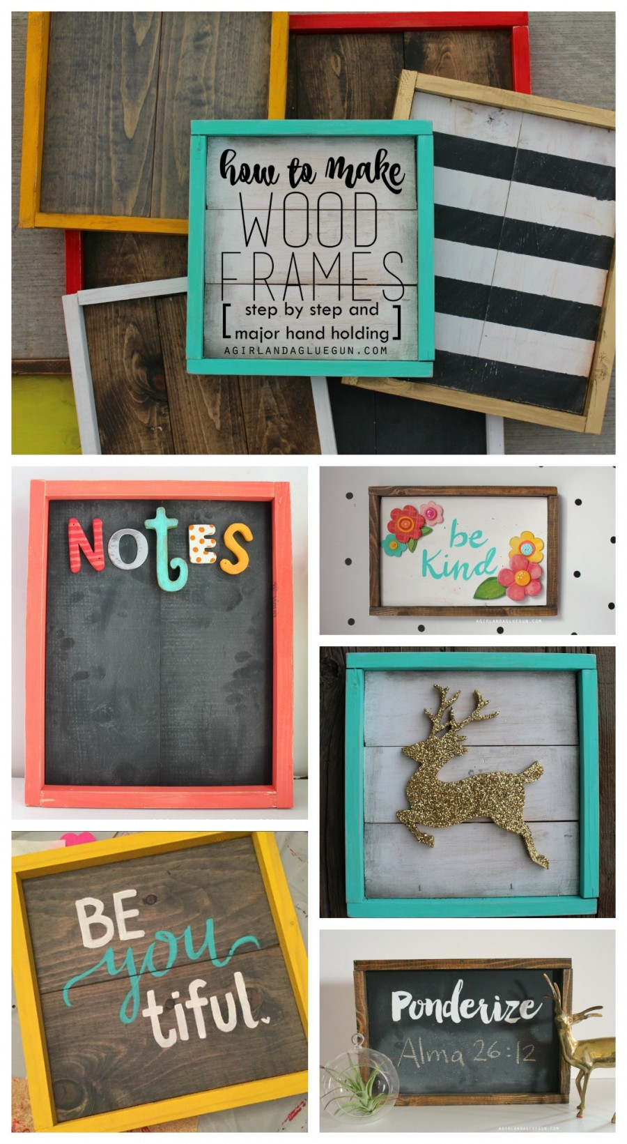 Diy photo frames 26 creative easy picture frames step by step how to make rustic wooden sticks photo frame jeuxipadfo Gallery