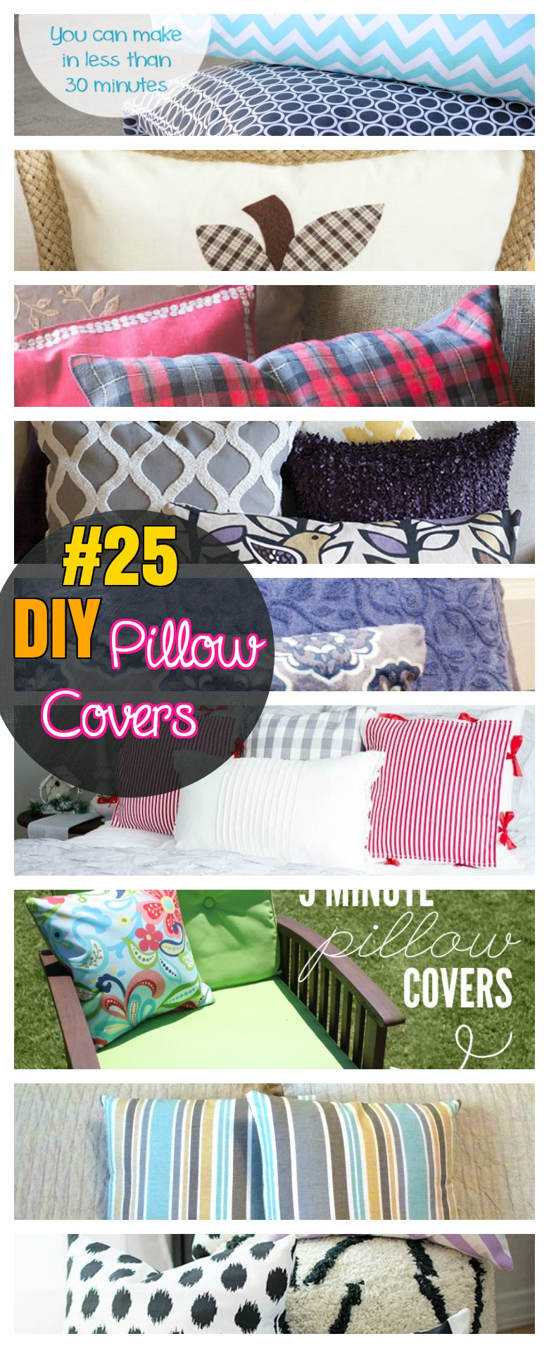 DIY 25 Pillow covers step by step tutorial for pillow case