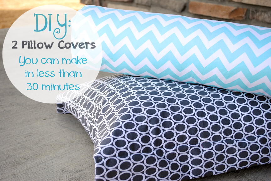DIY Pillow Covers Chevron and Polka dots & Easy Peasy DIY Pillow Cases: #25 Pillow Covers Tutorials  Pictures  pillowsntoast.com
