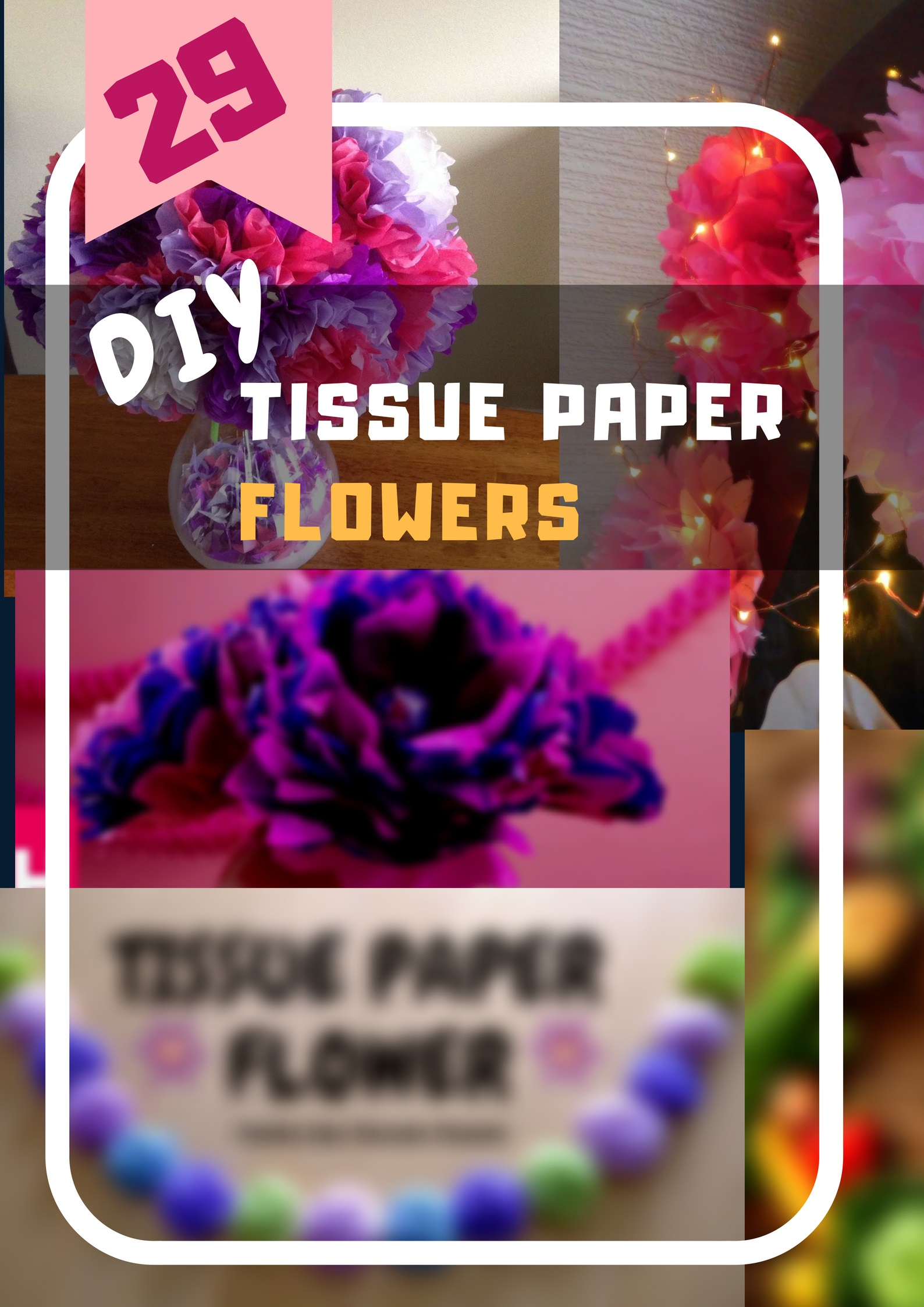 29 Easy Handpicked Diy Tissue Papaer Flowers Decor And Hanging Diy