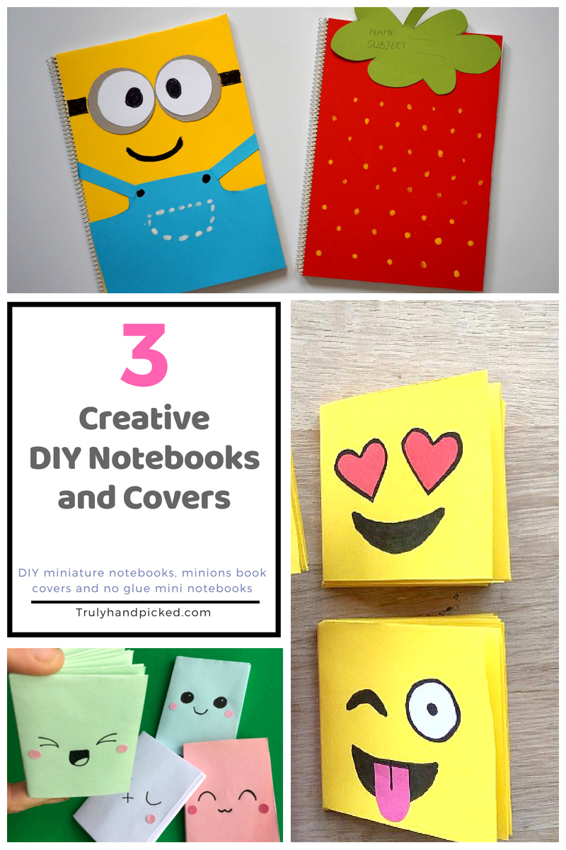 Book Cover School Supplies : Diy back to school supplies notebooks and creative