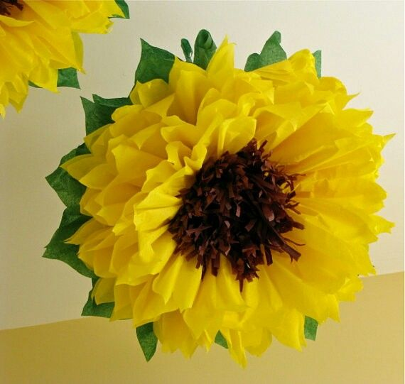 Tissue Paper Flowers for Fall-Decorations: