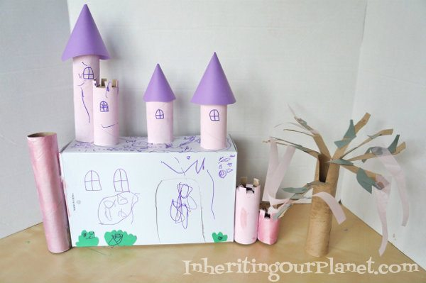 how to build a castle out of toilet paper rolls