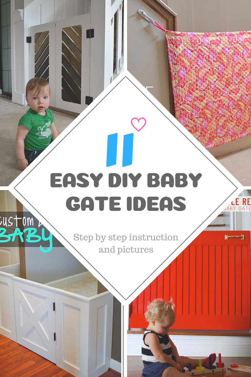 20 DIY Baby Gate Ideas: Fabric Pallet, and Wood Frame Gates for Stairs