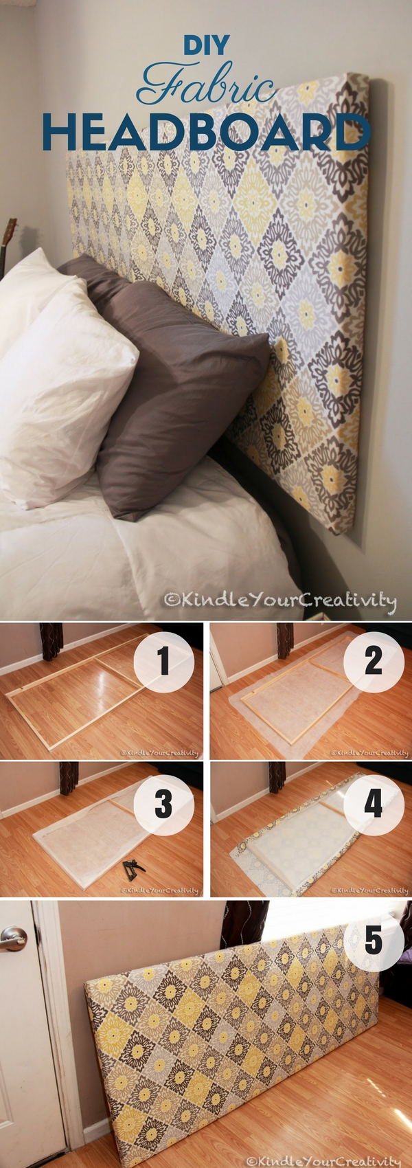 12 Aesthetic Headboards for Your Bedroom: DIY Fabric ...