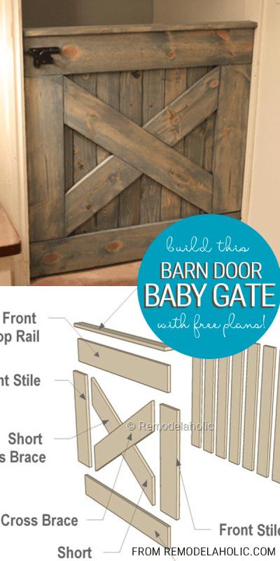Barn Door Pet Gate Easy Craft Ideas