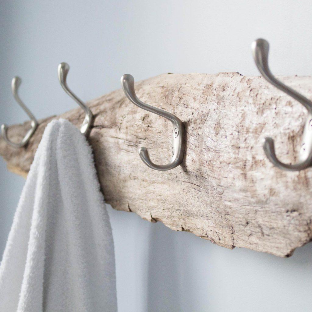 Towel Hook Ideas: 23 DIY Bathroom Storage Ideas: Towel Holders, Racks And Hooks