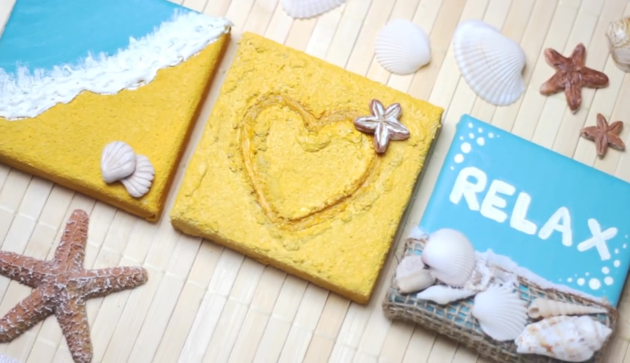 Effortless Relaxing Room Decor: DIY 3D Beach Canvas Wall Art { Video }