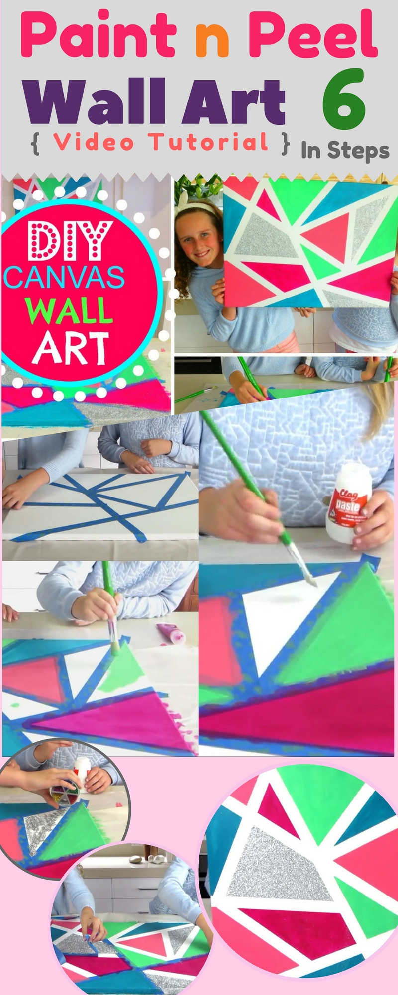 Paint n peel it diy cheap 6 steps effortless canvas wall art video - How to prepare walls for painting in a few easy steps ...