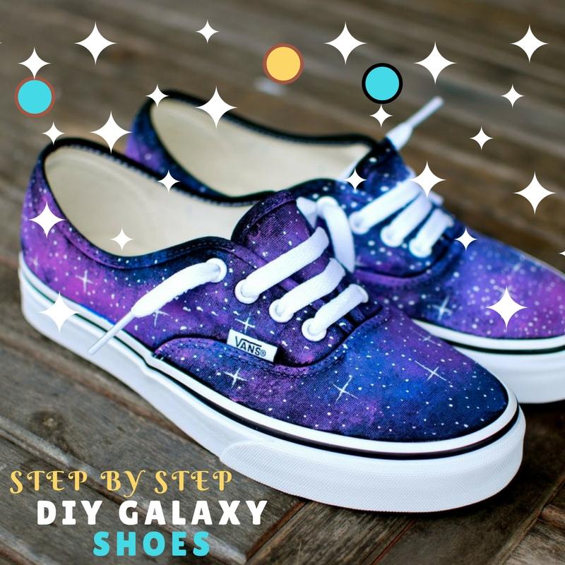 24e8fe1f7e23 To make the super chic galaxy shoe you will need
