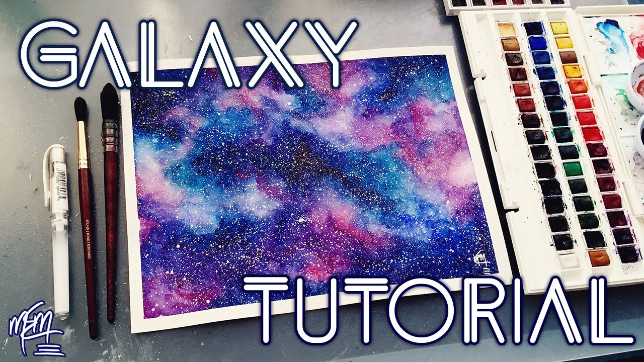 My First Realistic Galaxy Painting Tutorial Materials N