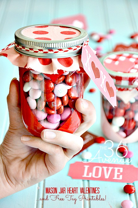16 Sweet Heart Mason Jar Gifts Diy Valentines Day Gift In Jar