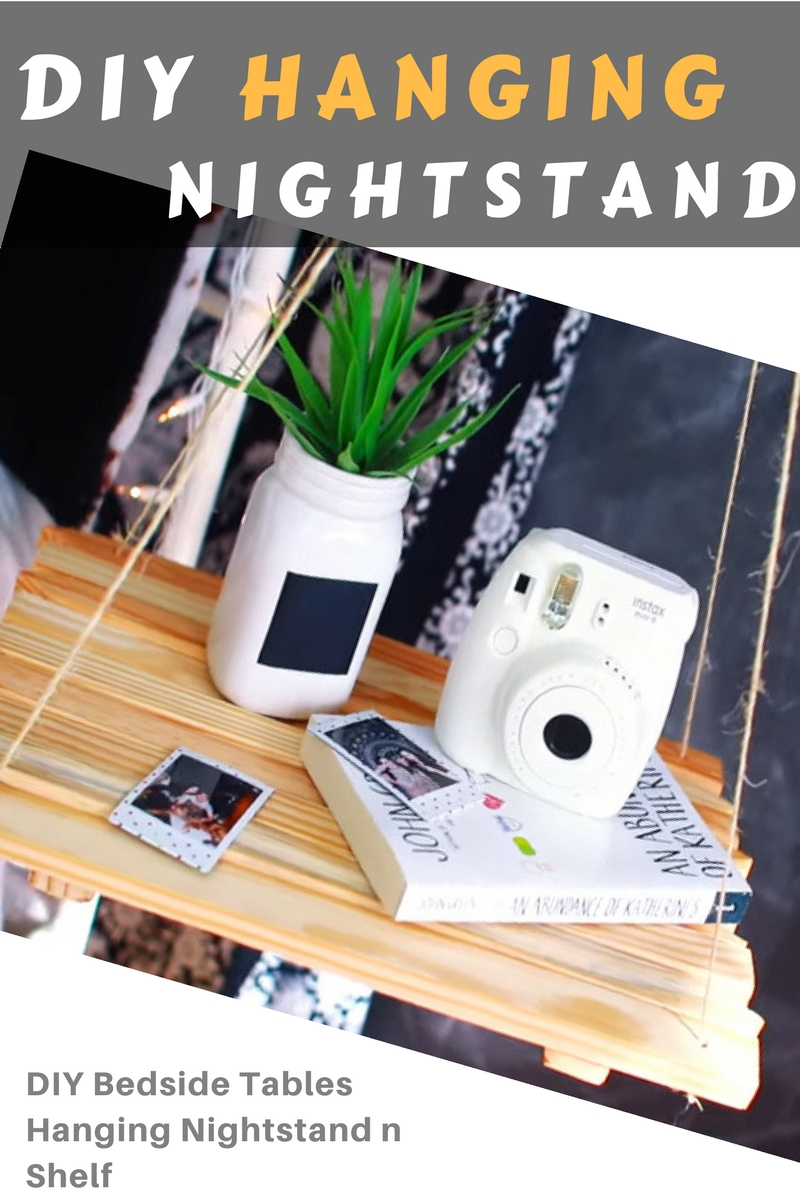 Diy Nightstand How Can I Make A Hanging Nightstand