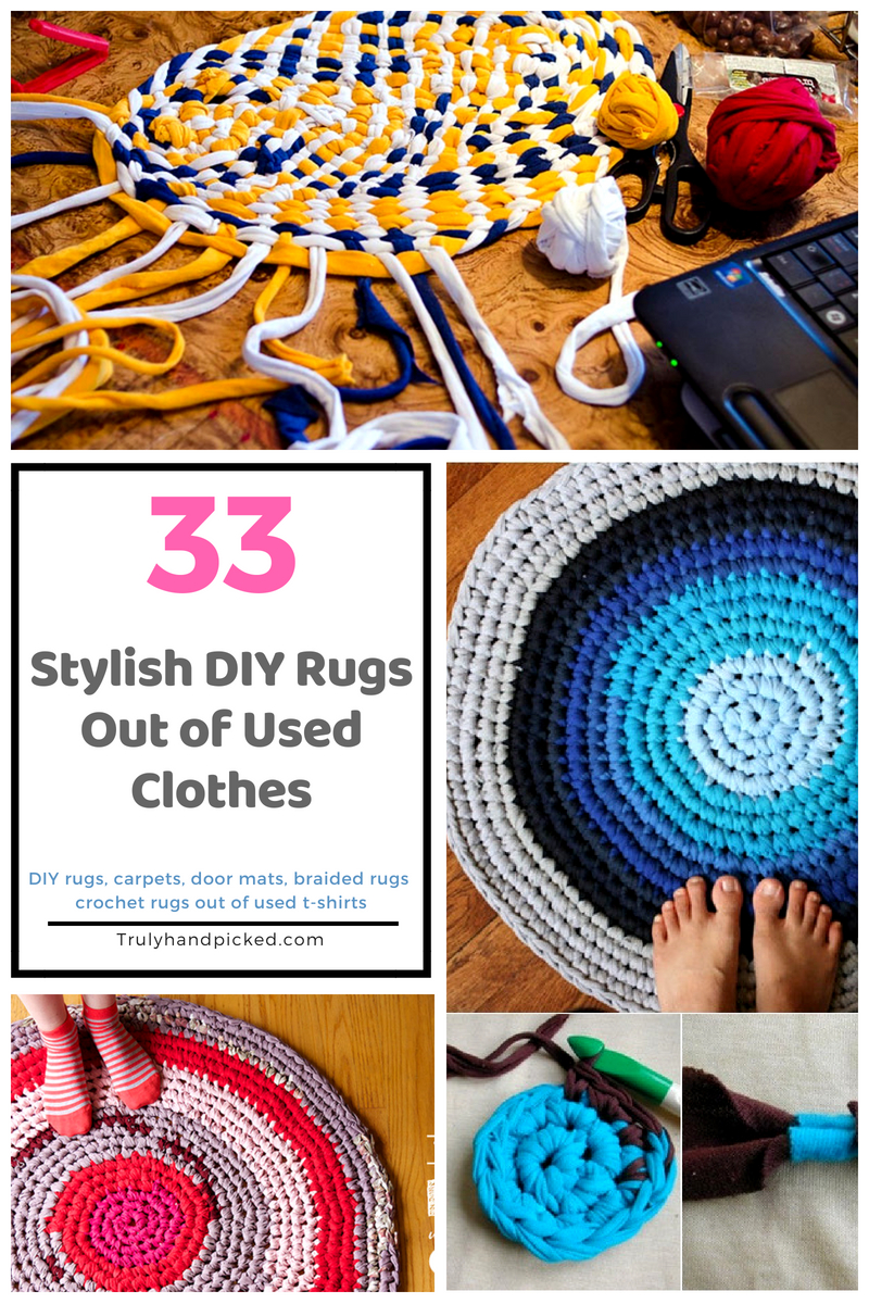 33 Modish Diy Rugs Rugs Carpet Mats Out Of Old Clothes
