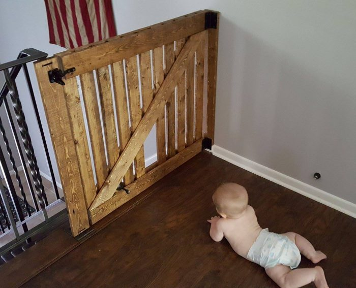 Wooden Baby Gate For Stairs Diy Photos Freezer And Stair Iyashixcom