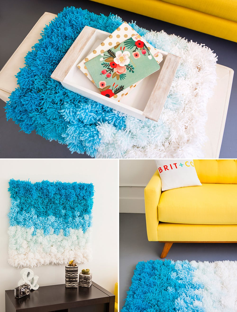 Easy 6 Step Rug Steps For Making A Uneven And Fluffy Pom