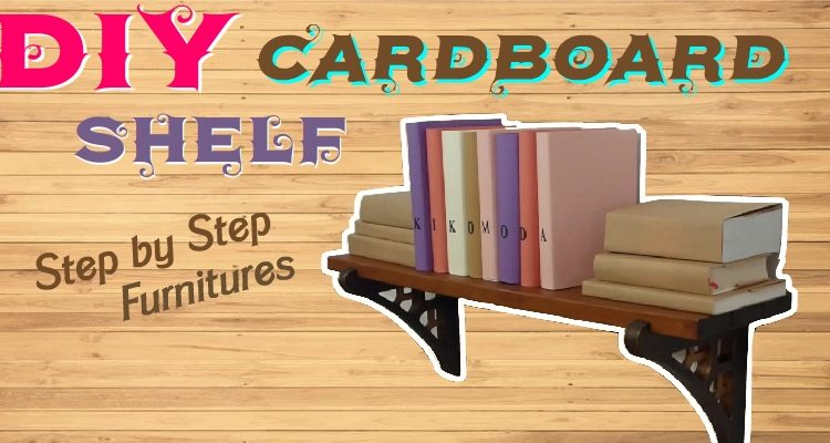 How to make a wall shelf out of cardboard