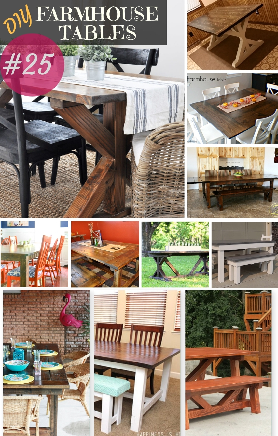 25 Rock Solid Diy Farmhouse Table Bench Plans Classic Dining