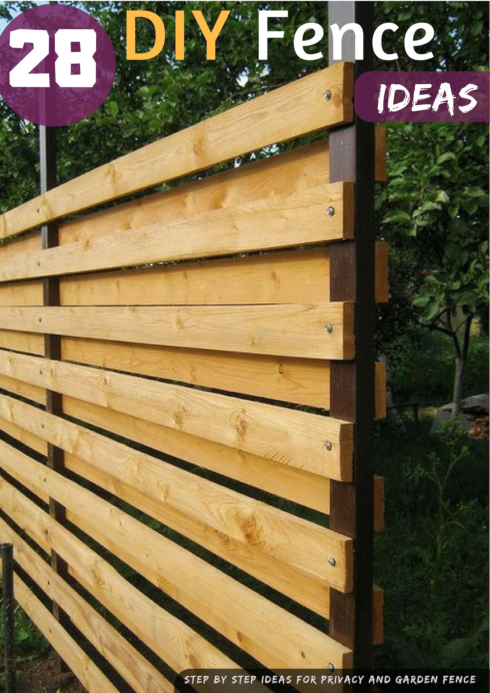29 Diy Fence Ideas Garden And Privacy