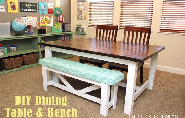 25 Rock Solid Diy Farmhouse Table Bench Plans Clic Dining Ideas