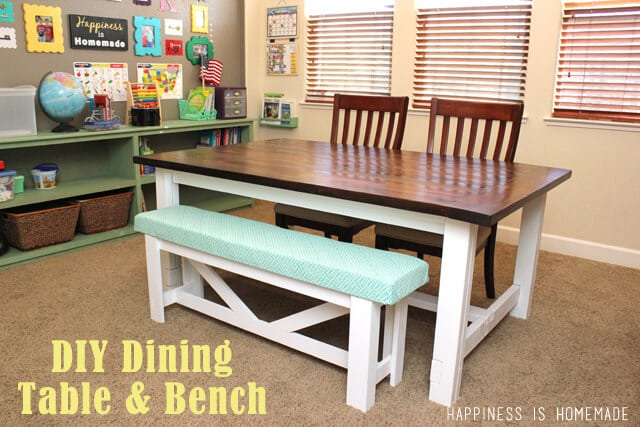 25 DIY Farmhouse Table Bench Plans Rock Solid Dining Ideas