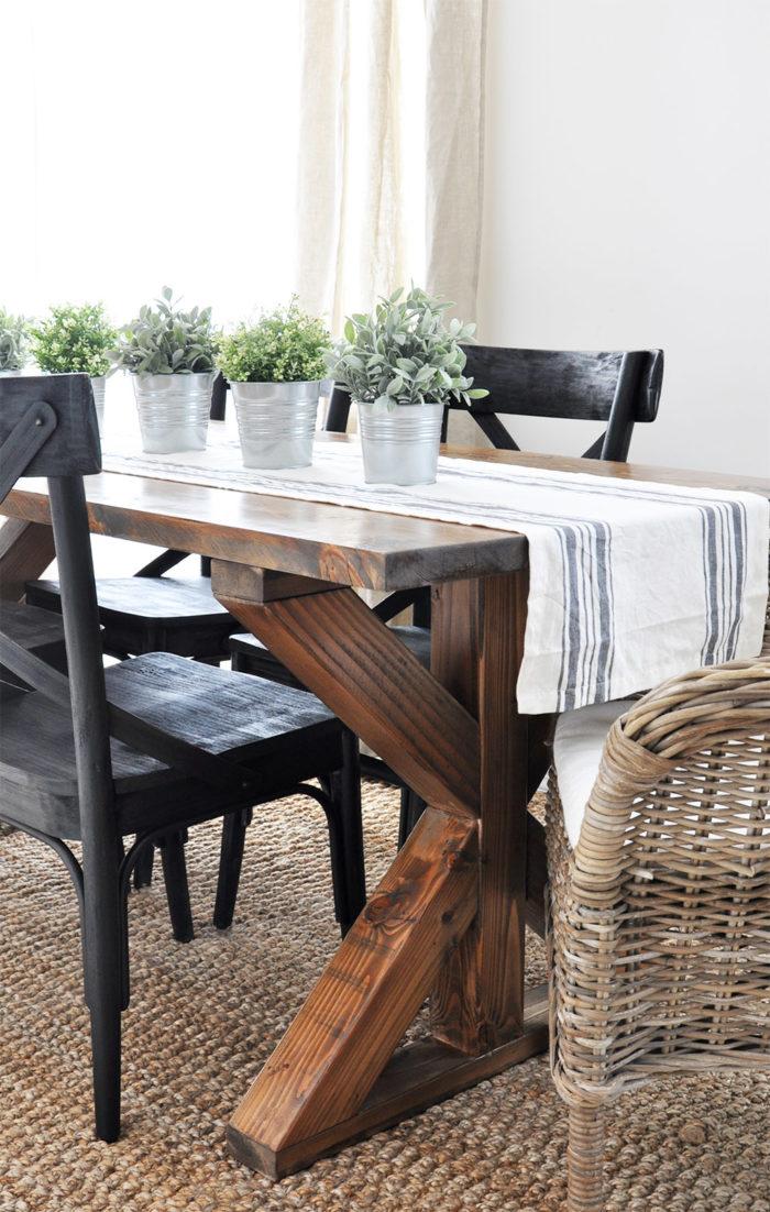 Cool 25 Rock Solid Diy Farmhouse Table Bench Plans Classic Download Free Architecture Designs Embacsunscenecom