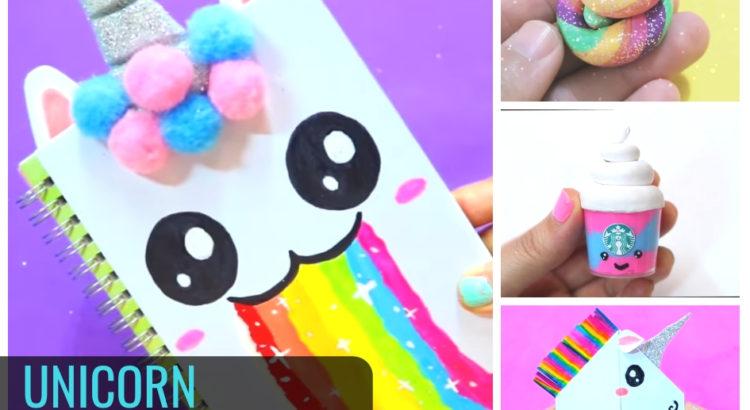 25 Diy Colorful Unicorn Craft Ideas School Supplies Cute Decors
