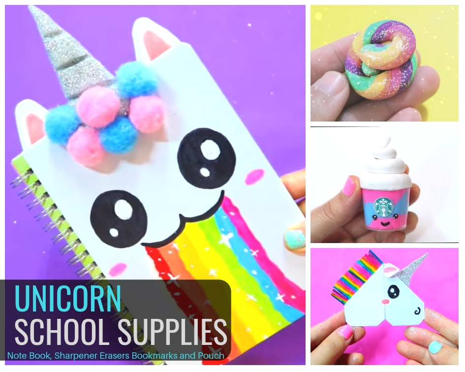 25 Diy Colorful Unicorn Craft Ideas School Supplies Cute Decors