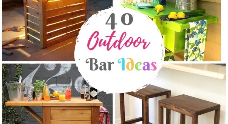 Stupendous 40 Diy Outdoor Bar Ideas Inexpensive Bar Setting And Table Inzonedesignstudio Interior Chair Design Inzonedesignstudiocom