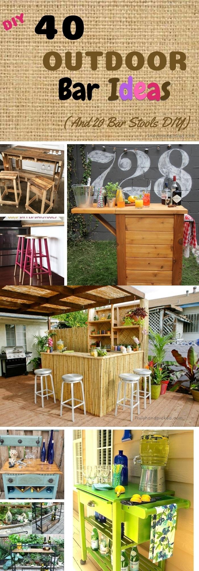 40 Diy Outdoor Bar Ideas Inexpensive, How To Make An Outdoor Bar Table